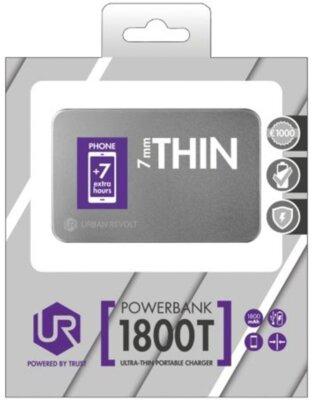 Мобильная батарея Trust Urban Revolt 1800T Silver 7