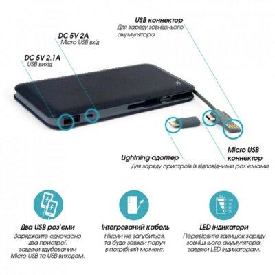 Мобільна батарея Global G. Power Bank DP622A Black 3