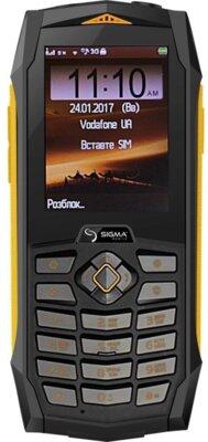 Мобільний телефон Sigma Х-treme PQ68 Black-Yellow 1