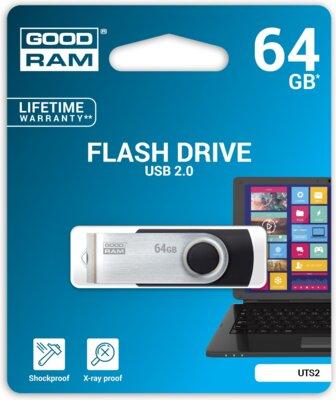 USB flash накопичувач Goodram Twister 64GB Black 2