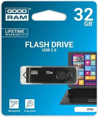 USB flash накопитель Goodram Twister 32GB Black Clip 2