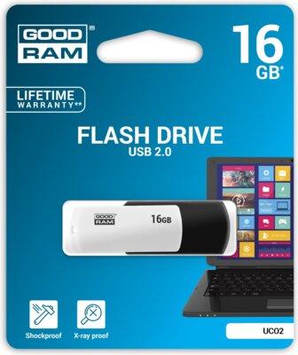 USB flash накопичувач Goodram UCO2 16GB Black-White 2