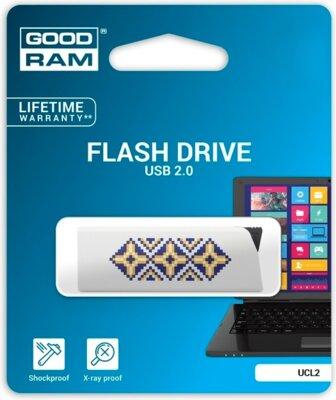 USB flash накопитель Goodram Click 32GB Ukraine White 2