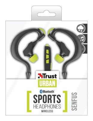 Навушники Trust Senfus Bluetooth Sports In-ear Headphones Black-Yellow 3