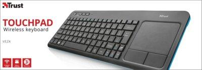 Клавиатура Trust Veza Wireless Touchpad Black 2
