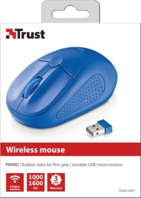 Миша Trust Primo Wireless Mouse Blue 3