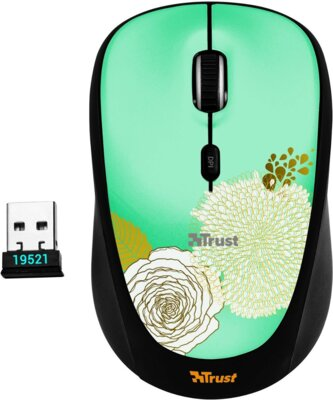 Мышь Trust Yvi Wireless Mouse Flower 1