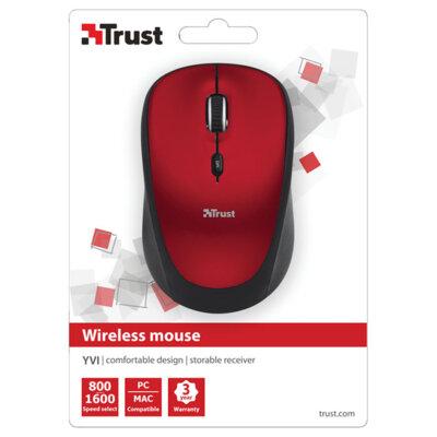 Миша Trust Yvi Wireless Mini Mouse Red 4