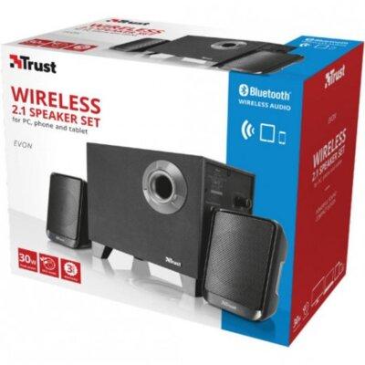 Акустическая система Trust Evon Wireless 2.1 Speaker Set Black 4