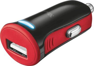 Зарядний пристрій Trust 5W Car Charger Red 1
