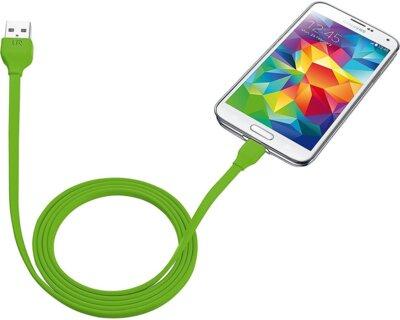 Кабель Trust Urban Micro-USB Cable 1m Lime 3