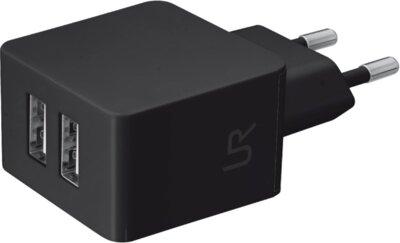 Зарядное устройство  Trust Urban Dual Smart Wall Charger Black 1