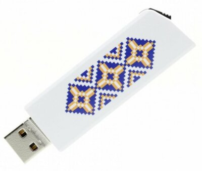 USB flash накопитель Goodram Click 16GB Ukraine White 1