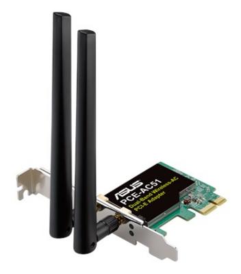 Сетевой адаптер Asus PCE-AC51 1