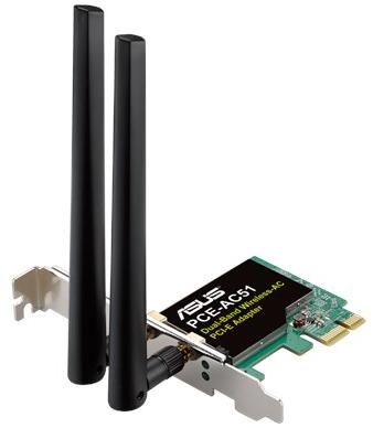 Сетевой адаптер Asus PCE-AC51 2