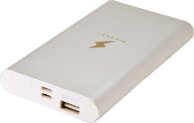 Мобильная батарея E-Power Power Bank PB-308-SLV 8000 mAh Silver 1