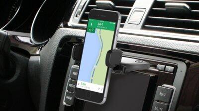 Автотримач iOttie Easy One Touch Mini CD Slot Universal Car Mount Holder Cradle Black 3