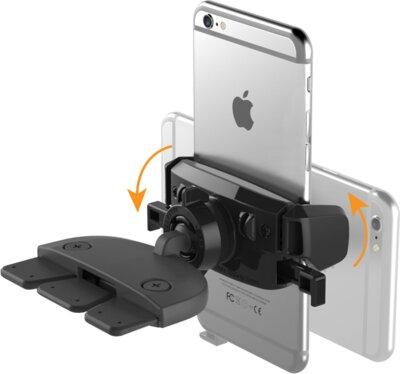 Автотримач iOttie Easy One Touch Mini CD Slot Universal Car Mount Holder Cradle Black 4