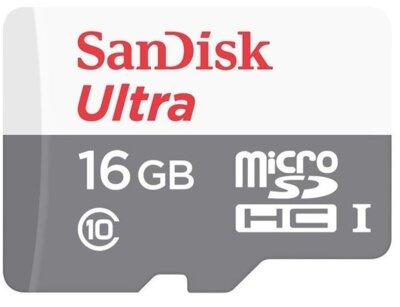 Карта пам'яті microSDHC 16GB SanDisk Class 10 UHS-I Ultra 1