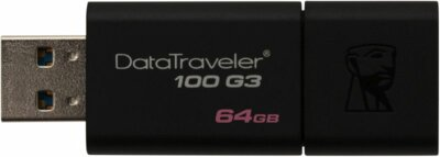 USB flash накопитель Kingston DataTraveler 100 G3 64GB Black 2