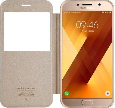 Чехол NILLKIN Samsung A7(2017)/A720 - Spark series (Золотистый) 3