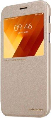 Чехол NILLKIN Samsung A7(2017)/A720 - Spark series (Золотистый) 4