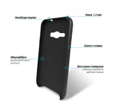 Чехол для Samsung J120 (Ori-R) black (1283126472060) GlobalCase 2