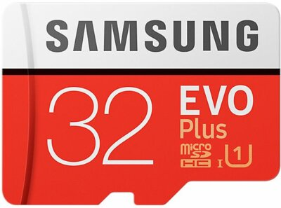 Карта памяти microSDHC 32GB Samsung EVO Plus Class 10 UHS-I U1 MB-MC32GA/RU 1