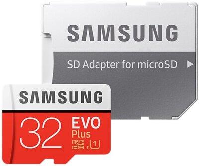 Карта памяти microSDHC 32GB Samsung EVO Plus Class 10 UHS-I U1 MB-MC32GA/RU 4