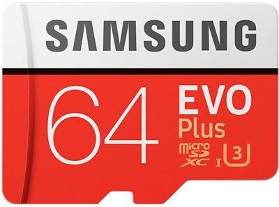 Карта пам'яті microSDXC 64GB Samsung EVO Plus Class 10 UHS-I U3 MB-MC64GA/RU 1