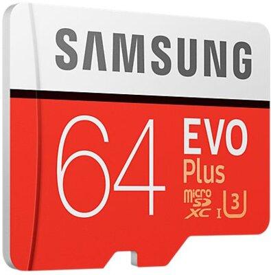 Карта пам'яті microSDXC 64GB Samsung EVO Plus Class 10 UHS-I U3 MB-MC64GA/RU 2