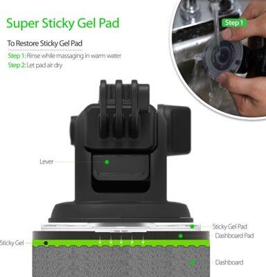 Автотримач IOTTIE Easy One Touch GoPro Cradle for GoPro (HLCRIO122GP) 5