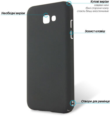 Чехол GlobalCase Cap-X для Samsung Galaxy A7 (2017) A720 Black 2