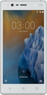 Смартфон Nokia 3 DS Silver White 1