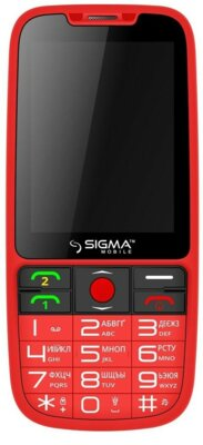 Мобільний телефон Sigma Comfort 50 Elegance Red 1