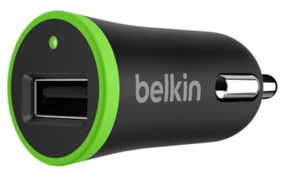 Автомобильное ЗУ Belkin USB BoostUp Charger (LIGHTNING сable, USB 2.4Amp) Black 1