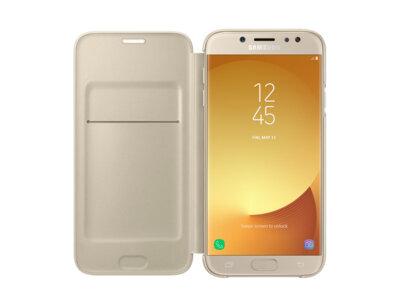 Чехол для Samsung J7 (2017) J730 Wallet Cover Gold ( EF-WJ730CFEGRU ) 1