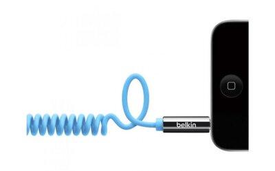 Кабель аудио (jack 3.5мм-M/jack 3.5мм-M) Belkin MIXIT Coiled 1.8м Blue 2