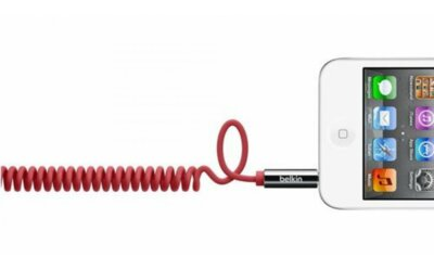 Кабель аудио  Belkin Mixit (jack 3.5мм-M/jack 3.5мм-M) Coiled 1.8м Red 2