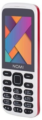 Мобильный телефон Nomi i244 White-Red 4