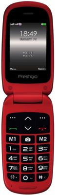 Мобильный телефон Prestigio Grace B1 1242 Duo Red (PFP1242DUORED) 1