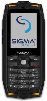 Мобильный телефон Sigma X-treme DR68 Black-Orange 1