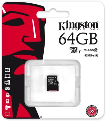 Карта пам'яті Kingston microSDXC 64GB Class 10 UHS-I SDC10G2/64GBSP 3