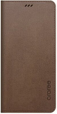 Чохол Araree Flip Wallet Leather Cover Saddle Brown для Galaxy А8 (2018) A530 1