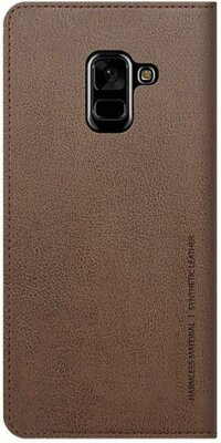 Чохол Araree Flip Wallet Leather Cover Saddle Brown для Galaxy А8 (2018) A530 2