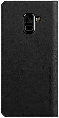 Чохол Araree Flip Wallet Leather Cover Black для Galaxy А8+ (2018) A730 2