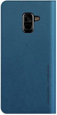 Чохол Araree Flip Wallet Leather Cover Ash Blue для Galaxy А8+ (2018) A730 2
