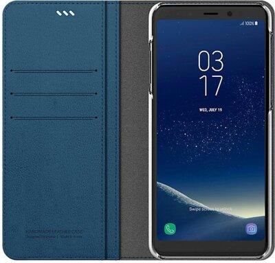 Чохол Araree Flip Wallet Leather Cover Ash Blue для Galaxy А8+ (2018) A730 3