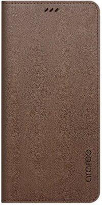 Чохол Araree Flip Wallet Leather Cover Saddle Brown для Galaxy А8+ (2018) A730 1