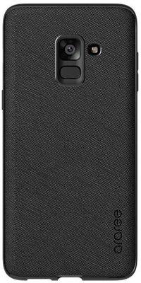 Чехол Araree Silicon Cover Black для Galaxy А8+ (2018) A730 1